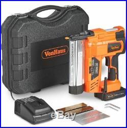 18V Diy Cordless Nail Gun Stapler Case Heavy Duty Battery Upholstery Nailer New