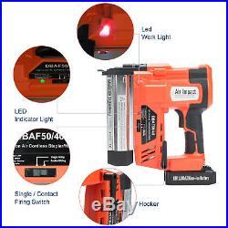 18 Volt 18 Gauge Cordless Brad Nailer Kit Nail Gun with LED Lights & Batteries