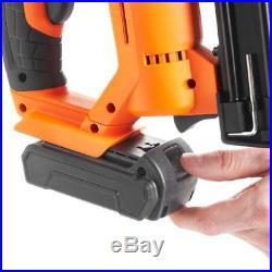 2In1 Li-Ion Powered Battery Cordless Nailer And Stapler Anti-Jam Staple Nail Gun