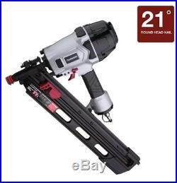 3-1/2in Framing Nailer Pneumatic Nail Gun 21 Degree Full Head Strip Framer Oil
