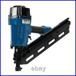 Air Framing Nailer 90mm 10-12 Gauge Nail Gun Roofing Fencing Decking Flooring