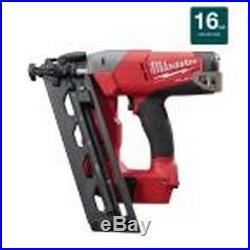 Angled Finish Nailer 16 Gauge Pneumatic Nail Gun 18 Volt Lithium Ion Bare Tool