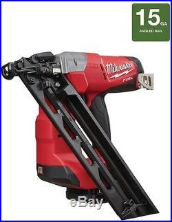 Angled Finish Nailer Kit Cordless Pneumatic Nail Gun 18V 15-Gauge Lithium-ion