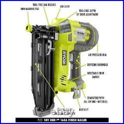 Best Cordless Finish Nailer Battery Powered 16 Gauge Trim Nail Gun (Tool Only)