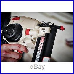 Cordless Air Finish Nail Gun Nailer Construction Tool Kit Battery Charger 1.5 AH