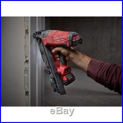Cordless Angled Finish Nailer 15 Guage 18V Lithium Ion Brushless 2.0Ah Nail Gun
