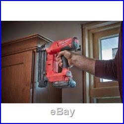 Cordless Brad Nailer 18 Gauge Brushless Lithium Ion 18V Bare Tool Air Nail Gun