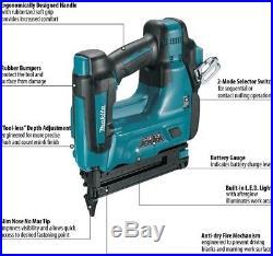 Cordless Brad Nailer 18 Gauge Nail Gun Lithium Ion 18 Volt Power Tool Only Bare