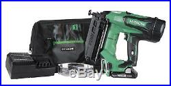 Cordless Finish Nailer Hitachi 16 Gauge 18V Battery Straight Finishing Trim