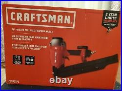 Craftsman 21 degree plastic collated framing sheathing nailer nail gun 3-1/2 new