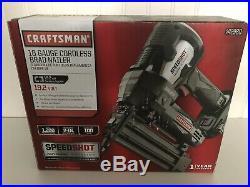 Craftsman C3 19.2 Volt Cordless Speed Shot Brad Nailer # 942980 NEW 18 Gauge