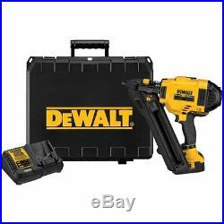 DEWALT 20V MAX XR Cordless Metal Connecting Nailer Kit DCN693M1