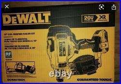 DEWALT 20-Volt MAX Lithium-Ion 15° Cordless Roofing Nailer Kit DCN45RND1