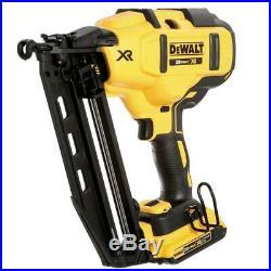 DEWALT DCN660D1 20-Volt Max 16-Gauge Cordless Angled Finish Nailer Kit