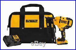 DEWALT DCN660D1 Cordless Angled Finish Nailer Kit 20V MAX XR Brushless NEW