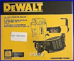 DEWALT (DWF83C) 15 Degree Coil Framing Nailer Nail Gun. NEW! . FREE S&H