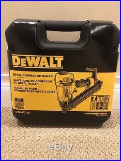 DEWALT DWMC150 Pneumatic Air Metal Connector Nail Gun with Case Free Shipping
