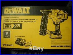 DeWALT DCN680D1 20-Volt 18-Gauge Micro Nose Cordless Brad Nailer Kit NEW