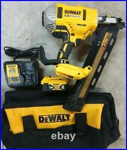 DeWalt 20V Max XR Brushless 21 Degree Framing Nailer Kit Model# DCN21PLM1