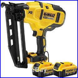 DeWalt DCN660N 18V XR Brushless Fix Nailer With 2 x 4.0Ah DCB182 Battery