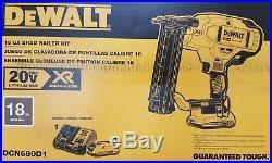 DeWalt DCN680D1 18g 20v Max Cordless Brushless Brad Nailer Kit