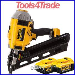 DeWalt DCN692N 18V Brushless First Fix Framing Nailer With 2 x 4.0Ah Batteries