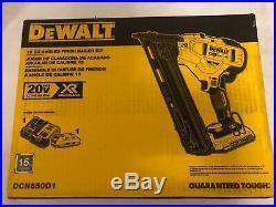 Dewalt 20v 15 gauge finish nailer kit DCN650D1