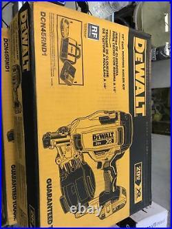 Dewalt DCN45RND1 20-Volt MAX 15-Degree Cordless Coil Roofing Nailer Kit