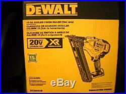 Dewalt DCN650B 20V MAX XR 15 GA Cordless Angled Finish Nailer Trim Gun NEW