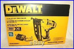 Dewalt DCN660D1 16 Gauge 20V MAX Cordless Angled Finish Nailer Kit