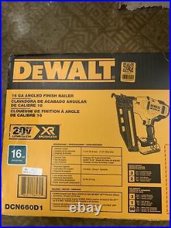 Dewalt DCN660D1 16-Guage 20-Volt Cordless Angled Finish Nailer New OB