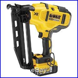 Dewalt DCN660P2 18V XR Cordless li-ion Brushless 2nd Fix Nailer 16Ga (2 x 5Ah)