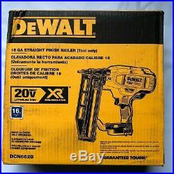 Dewalt DCN662B 20 volt XR 16 gage Straight Finnish Nailer (bare) NEW