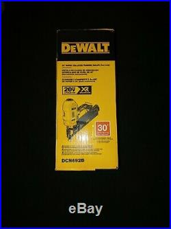 Dewalt DCN692B 20 volt XR 30 degree Paper Collated Framing Nailer (tool only)NEW