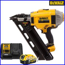 Dewalt DCN692N 18V Brushless Framing Nailer 90mm With 1 x 5.0Ah DCB184 & DCB115