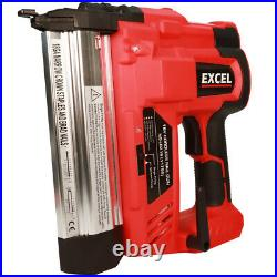 Excel 18v Cordless Li-Ion Nail Gun & Stapler 2nd Fix Brad Nailer Battery in Bag