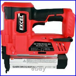 Excel EXL592B 18V Cordless 2nd Fix Brad Nailer Stapler Nail Gun Body Only