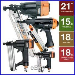 Framing Finish Brad Nailer Stapler Kit Air Nail Gun Aluminum 4-Piece and Bag