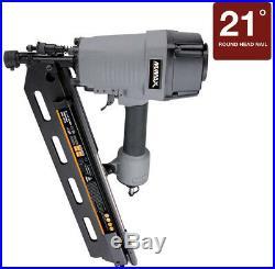 Framing Nailer Gun Pneumatic 21-Degree 3-1/2 in. Full Head Strip Home Job Site