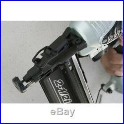 Hitachi NT65M2S 16 Gauge Pneumatic Brad Nailer Roundhead Finish Air Nail Gun