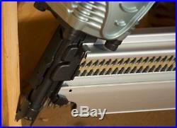 Hitachi Pneumatic Framing Air Nail Gun Clipped Head Nailer Tool 30 Degree