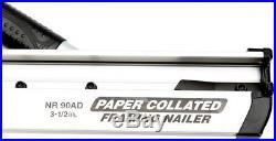 Hitachi Pneumatic Framing Air Nail Gun Clipped Head Nailer Tool 30 Degree New