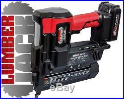 Lumberjack 18v Cordless Li-Ion Nail Gun & Stapler 2nd Fix Brad Nailer with Case
