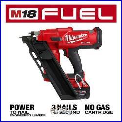 M18 Cordless Framing Nailer 3-1/2 Tool Free Brushless Nail Guns Power Tool Only