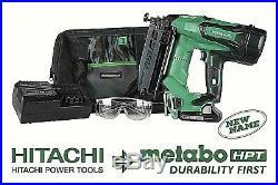 METABO HPT Nt1865DM 18V Cordless Straight Finish Nailer Kit, Brushless Motor WithB