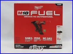 MILWAUKEE Finish Nailer 15 Guage 18V Lithium Ion Brushless 2A Nail Gun 2743-20P
