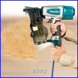 Makita AN613 Pneumatic Coil Nailer Air Pin Gun + 9000 2.5 64mm Flat Coil Nails