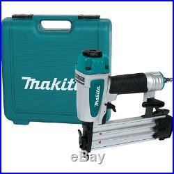 Makita Brad Nailer Nail Gun Pneumatic Air 2 Inch 18 Gauge Goggles Set Tool Kit