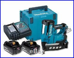 Makita DBN600 RFJ 18V LXT 16G Finishing Nailer in Makpac 2 X 3.0ah Li-ion