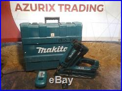 Makita GN900 Nail Gun First Fix Framing Nailer Case Charger Battery Gas